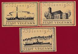 Allemagne 3 Notgeld  Stadt  Vegesack SERIE COMPLETE  Réf-- 1359/2-- Recueil Manfred Mehl)    Dans L 'état   Lot N °5 - Colecciones