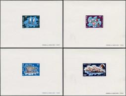 EPL WALLIS & FUTUNA - Poste - 182/4 + Pa. 43, 4 épreuves De Luxe: Pirogues (Maury) - Unclassified