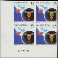 ** WALLIS & FUTUNA - Poste - 265, Bloc De 4 Non Dentelé, Cd 23/4/81: UIT, Satellite (Maury) - Unclassified