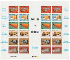 EPL WALLIS & FUTUNA - Poste - 306/11, Feuillet Complet De 4 Séries Non Dentelées: Coquillages (Maury 325B) - Unclassified