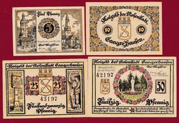 Allemagne 4 Notgeld  Stadt  Sangerhausen SERIE COMPLETE  Réf--1163/1-- Recueil Manfred Mehl) Dans L 'état   Lot N °6 - Colecciones