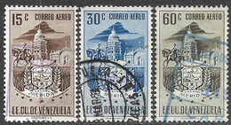 Venezuela   1952   Sc#C475-7  3 Diff Merida Arms Airmails To The 60c Used    2016 Scott Value $5.95 - Venezuela