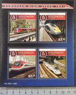 Solomon Islands 2015 European High Speed Trains Railways Transport Railjet Eurostar Alfa Pendular Alvia M/s - Solomon Islands (1978-...)