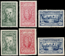 * COSTA RICA - Poste - 133/35, Les 2 Séries, Dentelés + Non Dentelés: J.O. Centraméricains 1924 - Costa Rica