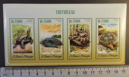 St Thomas 2014 Turtles Tortoise Reptiles M/sheet Mnh - Full Sheets & Multiples