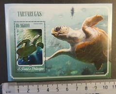 St Thomas 2014 Turtles Tortoise Reptiles S/sheet Mnh - Full Sheets & Multiples