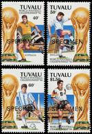 """SPE TUVALU - Poste - 653/6, Série Surchargée """"spécimen"""": Football USA 94 - Tuvalu"""