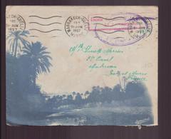 Maroc, Enveloppe Du 21 Juin 1957 De Marrakech-Guéliz Pour Montereau Cachet Du Vaguemestre - Bolli Militari A Partire Dal 1940 (fuori Dal Periodo Di Guerra)