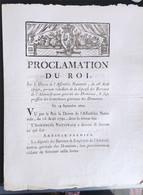 Proclamation Du Roi Du 19 Septembre 1790 - Documenti Storici
