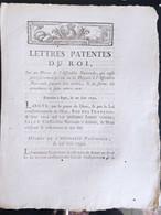 Lettres Patentes Du Roi Du 27 Juin 1790 - Documenti Storici