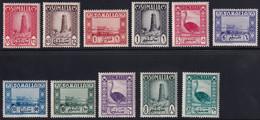 Somalia A.F.I.S. Soggetti Africani 1950 Serie Completa Sass. 1/11 MNH** Cv 110 - Somalie (AFIS)