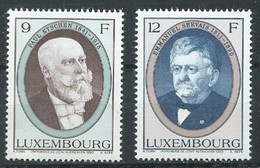 Luxembourg YT N°1195/1196 Hommes D'Etat Luxembourgeois Neuf ** - Nuevos