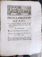 Lettres Patentes Du Roi Du 14 Octobre 1790 - Decreti & Leggi