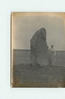 Photo - 1904 - Menhir De La Grande Pierre De La Chapelle Godefroy - Format 8 X 11 Cm - Altri Comuni