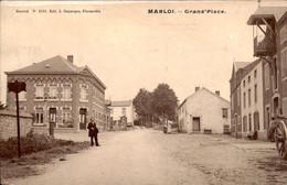 België - Marloi - Grand PLace - Cafe - 1905 - Non Classificati