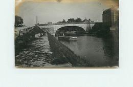 Photo - NOGENT-SUR-SEINE - 1904 - Le Port, Péniche Chaland N°3 - Format 11,5 X 7,5 Cm - Nogent-sur-Seine
