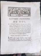 Lettres Patentes Du Roi Du 19 Octobre 1790 - Decreti & Leggi