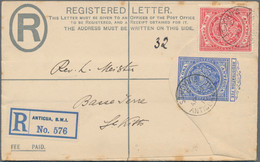 Antigua - Ganzsachen: 1904/1927: Three Covers/postcard Including 1) P/s Double Card 1+1d. Addressed - Antigua And Barbuda (1981-...)