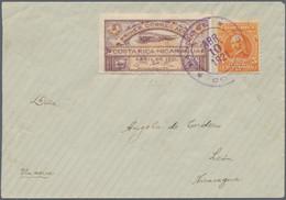 """Costa Rica: 1921, """"PRIMER CORREO AEREO - COSTA RICA - NICARAGUA / ABRIL DE 1921"""", 1 Colon Semioffici - Costa Rica"""