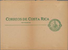 Costa Rica - Ganzsachen: 1923 COSTA RICA Unused UPU 4 Cent Green Wrapper Impresos Correos Costa Rica - Costa Rica