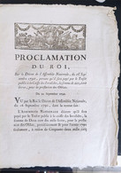 Proclamation Du Roi Du 21 Septembre 1790 - Decreti & Leggi