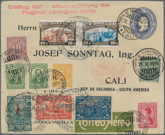 SCADTA - Allgemeine Auslandsausgabe: 1931, RUSSIA, Reopening Flight Leningrad-Berlin: 5 Different St - America (Other)