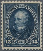 Vereinigte Staaten Von Amerika: 1895, 15 C Dark Blue 'Clay', Fresh Colour, Perfectly Centered, XF MH - Unused Stamps