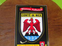 Blason écusson Adhésif Autocollant Comté De Nice Aufkleber Wappen Sticker Coat Arms Adesivi Stemma Adhesivo Escudo - Altri
