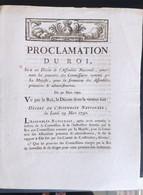 Proclamation Du Roi  Du 30 Mars 1790 - Decreti & Leggi