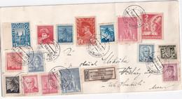 TCHECOSLOVAQUIE 1945 LETTRE RECOMMANDEE DE BILOVICE - Briefe U. Dokumente
