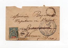 !!!  INDOCHINE, CORRESP D'ARMEES ANNAM - TONKIN, LETTRE DE HONG - GAY DE 1898. PETITE DECHIRURE - Storia Postale