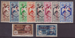 AEF : N° 181/90  ** . 1944 .  ( CATALOGUE YVERT ) . - Nuovi