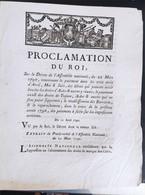 Proclamation Du Roi  Du 11 Avril 1790 - Decreti & Leggi