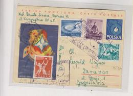 POLAND 1965 WARSZAWA Nice Postal Stationery To Yugoslavia - Cartas
