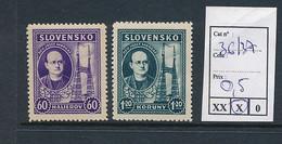 SLOVENSKO YVERT 36/37 LH - Nuovi