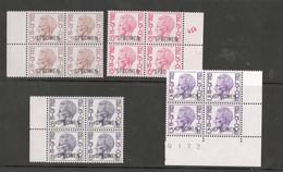 école Postale - Elström En Bloc De 4 Neuf Sans Charnières + Surcharge SPECIMEN. 8 Valeurs Différentes - 1970-1980 Elström