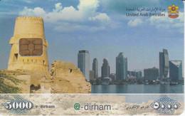 TARJETA DE EMIRATOS ARABES DE UNA CIUDAD 5000 DIRHAM - Verenigde Arabische Emiraten