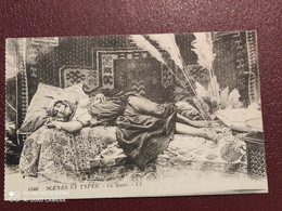 Ancienne Carte Postale  - Scénes Et Types - Femme Seins Nus -  La Sieste - Tunisia