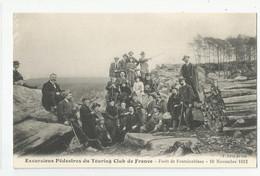 77 Foret De  Fontainebleau 10/11/1912 Excursions Pédestres Du Touring Club De France - Fontainebleau