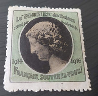 ERINNOFILI VIGNETTE CINDERELLA - FRANCIA REIMS 1916 - Cinderellas