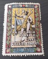 ERINNOFILI VIGNETTE CINDERELLA - FRANCIA PRO PATRIA 1915 - Cinderellas