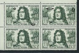 [48] Variété : N° 1208 Le Nôtre 170C Au Lieu De 1700 Et Lettres évidées Tenant à Normaux ** - Varieties: 1950-59 Mint/hinged