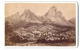Fotografie Fotograf Unbekannt, Ansicht Einsiedeln / Schwyz, Panorama Des Ortes Mit Gebirge - Luoghi