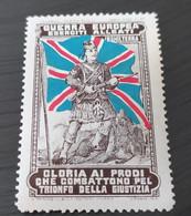 ERINNOFILI VIGNETTE CINDERELLA - GUERRA EUROPEA ESERCITI ALLEATI INGHILTERRA - Cinderellas