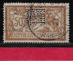 @  Perfin France  Perfore Monogramme BM 133  Indice 6 Sur Merson - Gezähnt (Perforiert/Gezähnt)