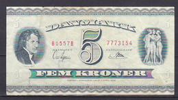Denmark, 5 Kronen, P.42/1955 Prefix B0, Grade F - Denemarken