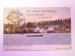 2021 - 2073  TURQUIE  -  CONSTANTINOPLE  :  La Corne-d'or Et EYOUB  1908  -  Carte Couleur   XXX - Turchia