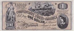 BILLETE DE ESTADOS UNIDOS DE 1 DOLLAR DEL AÑO 1862 (REPRODUCCIÓN) - Other