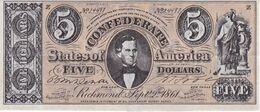 BILLETE DE ESTADOS UNIDOS DE 5 DOLLARS DEL AÑO 1861 (REPRODUCCIÓN) - Other