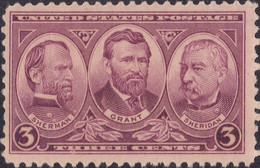 1936 Army Heroes, 3 Cents, Mint Never Hinged - Unused Stamps